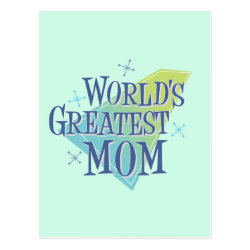 Postcard with World's Greatest Mom design