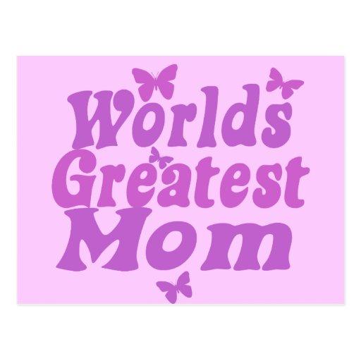 Worlds Greatest Mom Postcards