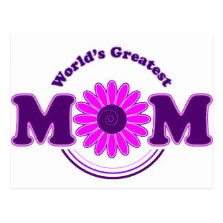 World's Greatest MOM (purple) Postcard