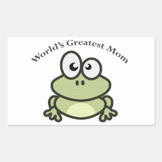 World's Greatest Mom Rectangular Sticker