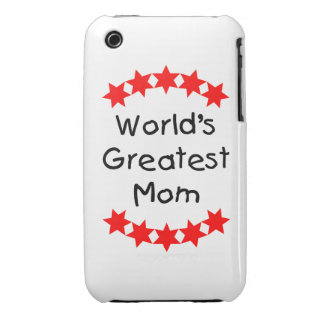 World's Greatest Mom (red stars) iPhone 3 Cover