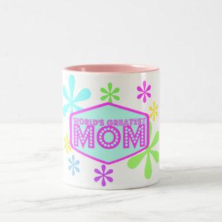 World's Greatest Mom - Retro Two-Tone Coffee Mug