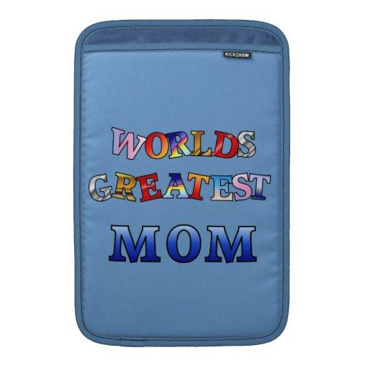 Worlds Greatest Mom Rickshaw Sleeve MacBook Sleeves