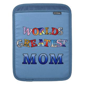 Worlds Greatest Mom Rickshaw Sleeve Sleeves For iPads