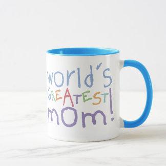 World's Greatest Mom Ringer Large Mug