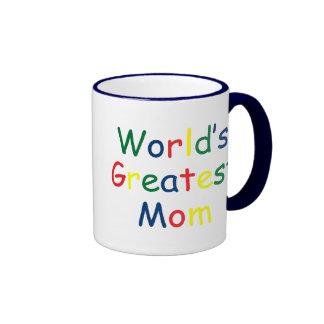Worlds Greatest Mom Ringer Mug