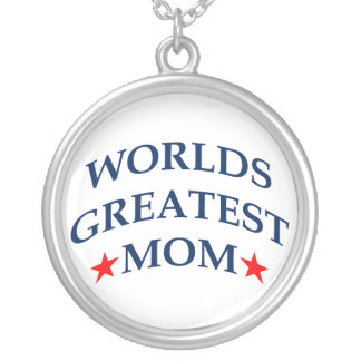 World's Greatest Mom Round Pendant Necklace