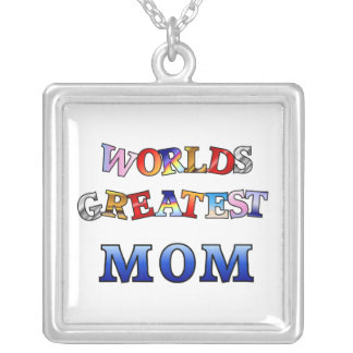 Worlds Greatest Mom Silver Plated Necklace