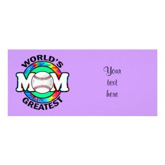 World's Greatest Mom; Softball Personalized Rack Card
