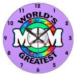 World's Greatest Mom; Softball Wall Clock