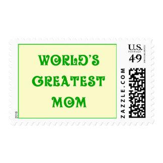 world's greatest mom stamp