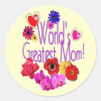 World's Greatest Mom! Round Stickers