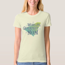 Women's American Apparel Organic T-Shirt with World's Greatest Mom design