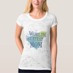 Women's Canvas Fitted Burnout T-Shirt with World's Greatest Mom design