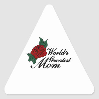 Worlds Greatest Mom Triangle Sticker