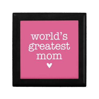 World's Greatest Mom with Heart Gift Boxes