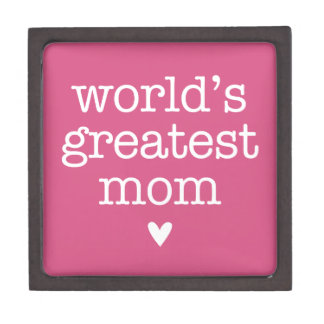 World's Greatest Mom with Heart Premium Trinket Boxes