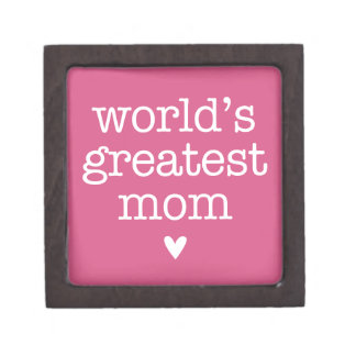 World's Greatest Mom with Heart Premium Keepsake Boxes