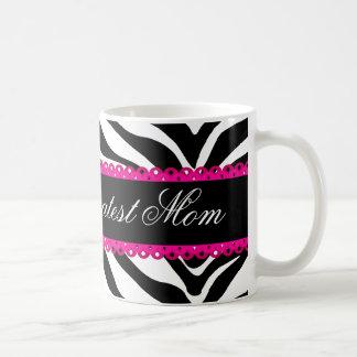 World's Greatest Mom Zebra Print & Lace Mug