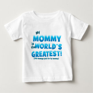 Worlds Greatest Mommy blue Baby T-Shirt