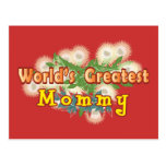 World's Greatest Mommy Post Card