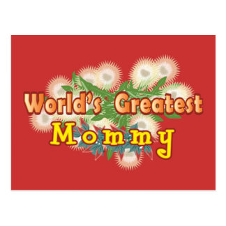World's Greatest Mommy Postcard