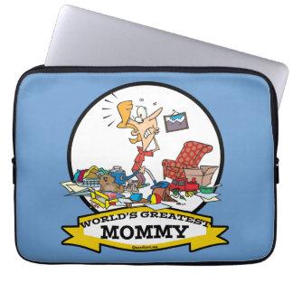 WORLDS GREATEST MOMMY WOMEN CARTOON LAPTOP COMPUTER SLEEVES