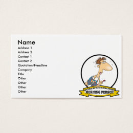 WORLDS GREATEST MORNING PERSON MEN CARTOON BUSINESS CARD