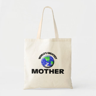 World's Greatest Mother Canvas Bags