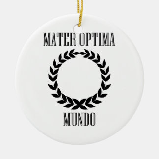 Worlds Greatest Mother Ceramic Ornament