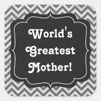 World's greatest Mother Chaulkboard sticker