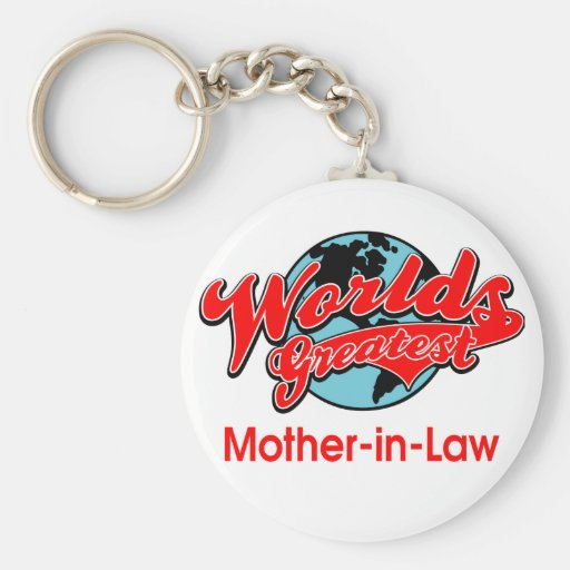 World's Greatest Mother-in-Law Basic Round Button Keychain