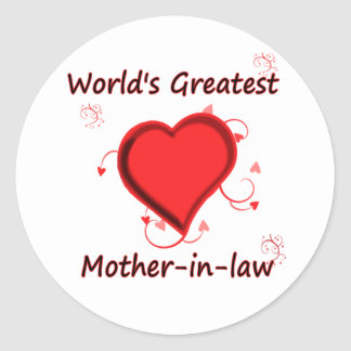 World's Greatest mother-in-law Classic Round Sticker