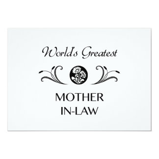 World's Greatest Mother-In-Law 5x7 Paper Invitation Card