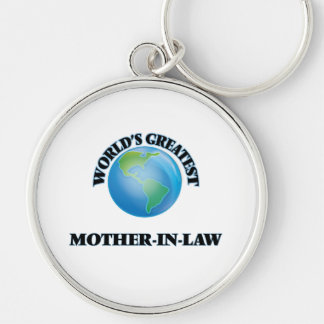 World's Greatest Mother-in-Law Silver-Colored Round Keychain