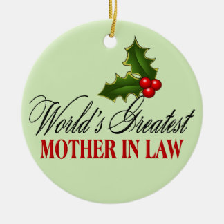 World's Greatest Mother In Law Ornaments