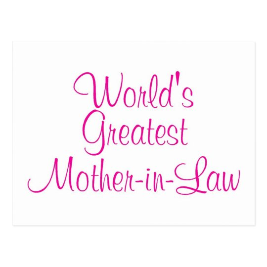 Worlds Greatest Mother In Law Postcard