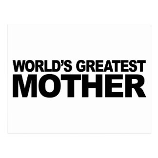 World's Greatest Mother Postcard