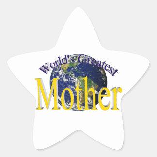 World's Greatest Mother (Star) Star Sticker