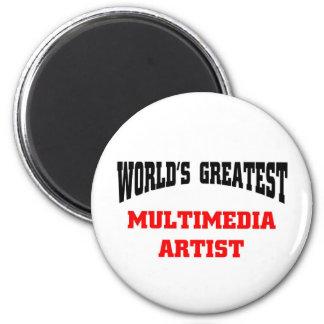 World's greatest multimedia artist refrigerator magnets