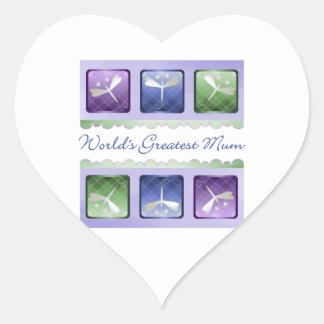 World's Greatest Mum (dragonflies) Sticker