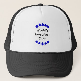 World's Greatest Mum (navy stars) Trucker Hat
