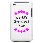 World's Greatest Mum (pink stars) Barely There iPod Cover