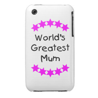 World's Greatest Mum (pink stars) Case-Mate iPhone 3 Case