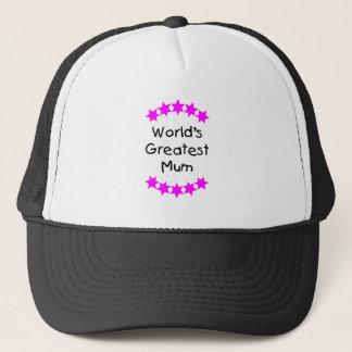 World's Greatest Mum (pink stars) Trucker Hat