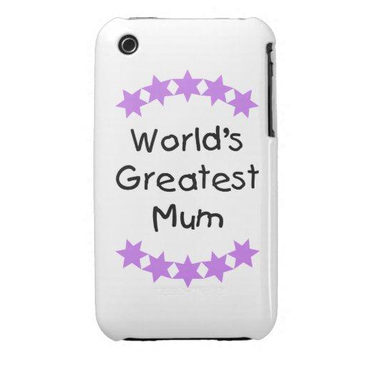 World's Greatest Mum (purple stars) iPhone 3 Covers
