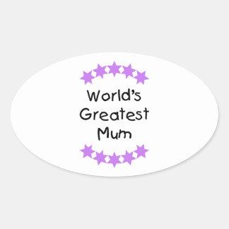 World's Greatest Mum (purple stars) Sticker