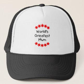 World's Greatest Mum (red stars) Trucker Hat