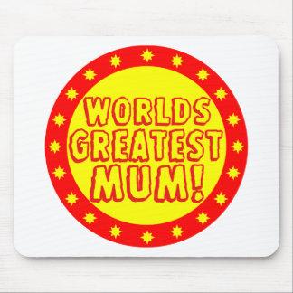 Worlds Greatest Mum Red & Yellow Mousepad