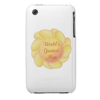 World's Greatest Mum (yellow flower) iPhone 3 Case